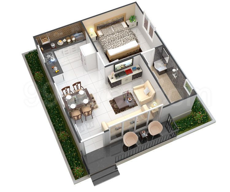 Image Result For 544 Square Feet Apartment