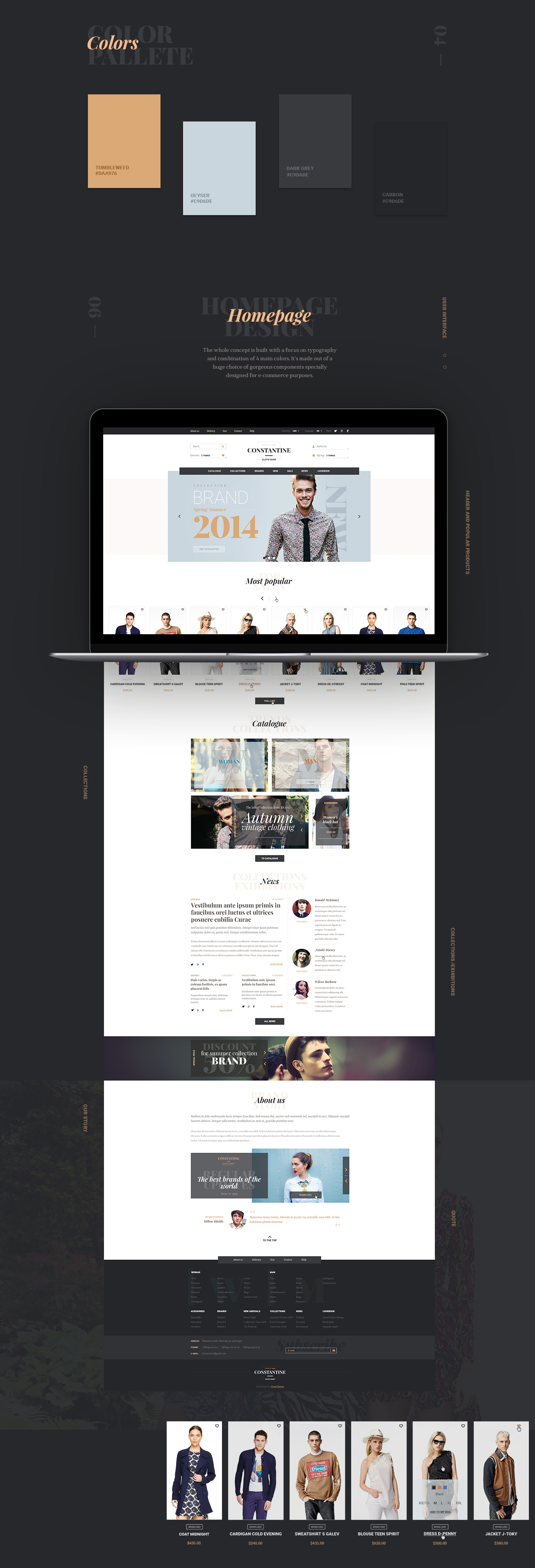 Constantine – template for your e-Commerce project. Inspired for ...