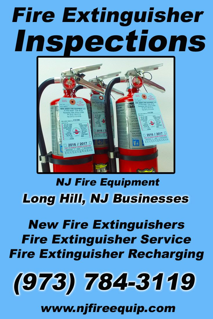 Fire extinguisher inspections long hill nj973 7843119