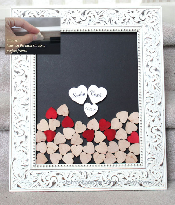 Wedding Guestbook Drop Heart Drop Box Guest Book Unique Heart