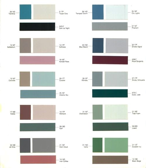 Exterior Paint Color Chart | Nelson Acrylic Latex Outside Flat White ...