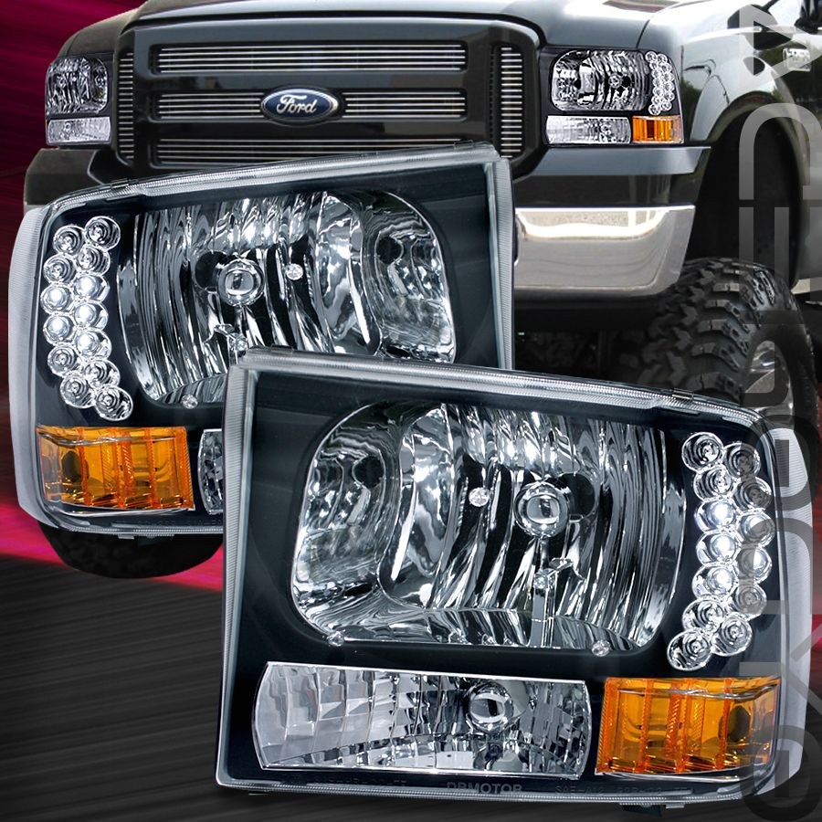Led Headlights For 1999 F250 Diesel Details About 2004 Ford Fuel Filter On 99 Powerstroke F350 Super Duty Headlight 2000