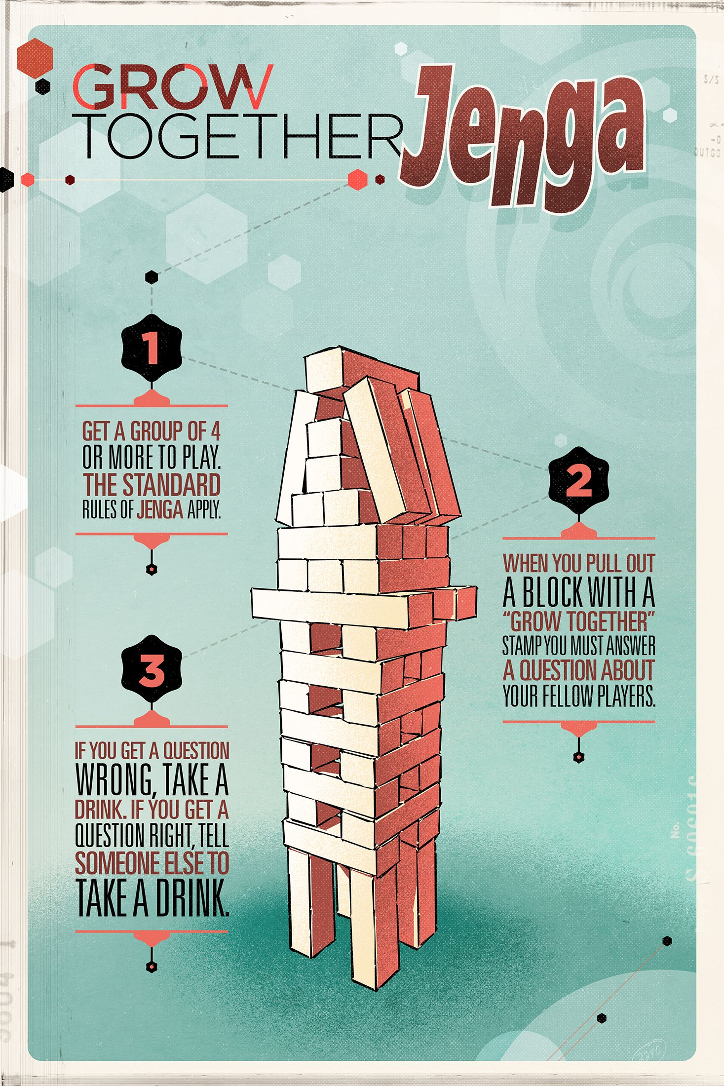 Poster design rules - Ga Grow Together Jenga Poster 2016 Jengaillustrationspostersdesign