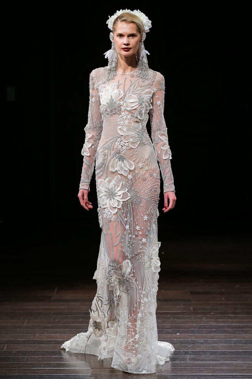 Lace wedding dress cheap december 2018 Naeem Khan Bridal Fall  Fashion Show  Naeem khan