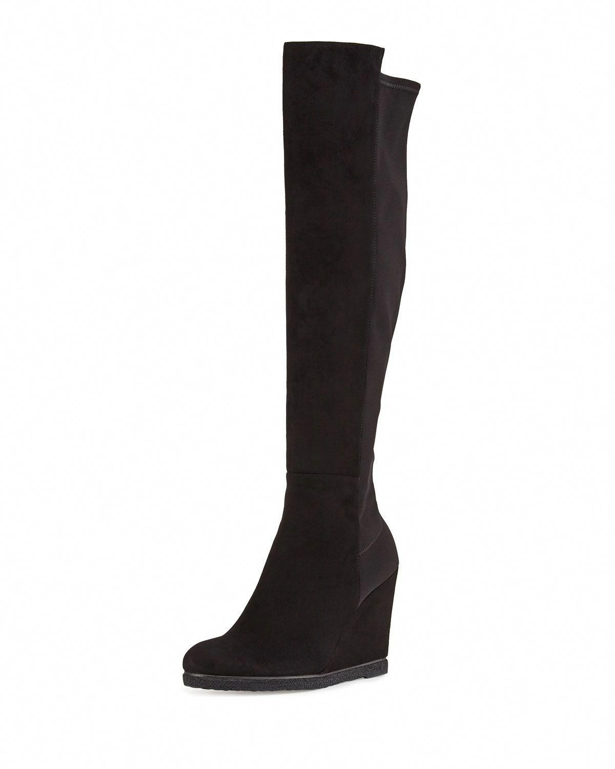 7a665466d75 Demiswoon Suede Stretch Over-Knee Wedge Boot