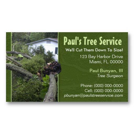 Tree Service Business Card Zazzle Com Tree Service Tree Tree Surgeons Tree services business cards