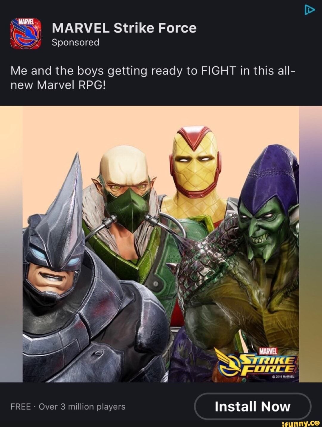 MARVEL Strike Force Me and the boys getting ready to FIGHT