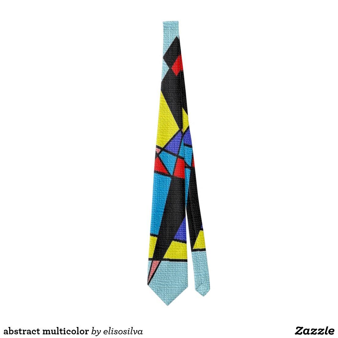 Corbata abstract multicolor | Zazzle.es | Accesorios para