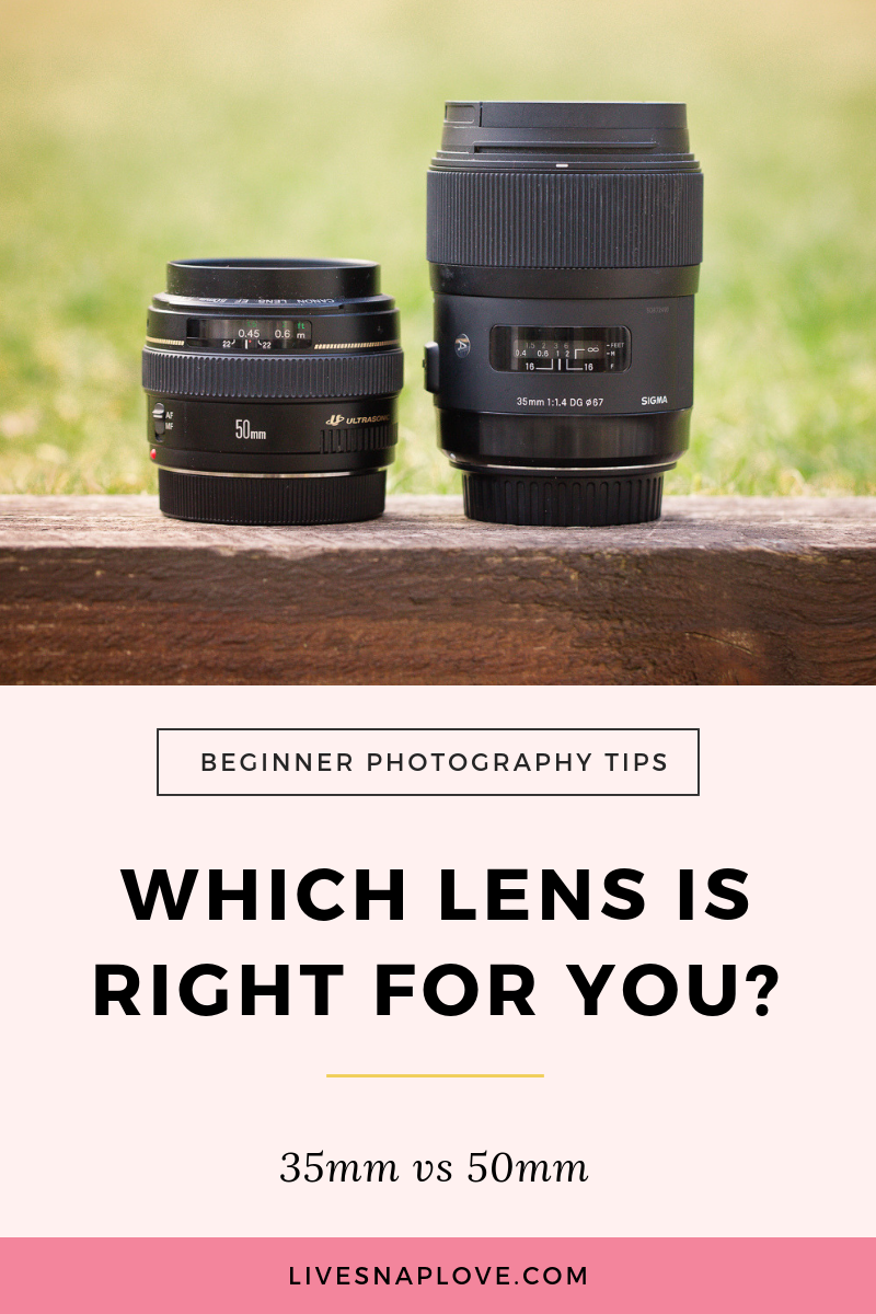 Which Lens Is Right For You 35mm Vs 50mm Live Snap Love Beginner Photography Camera Photography Tips For Beginners Lens For Portraits