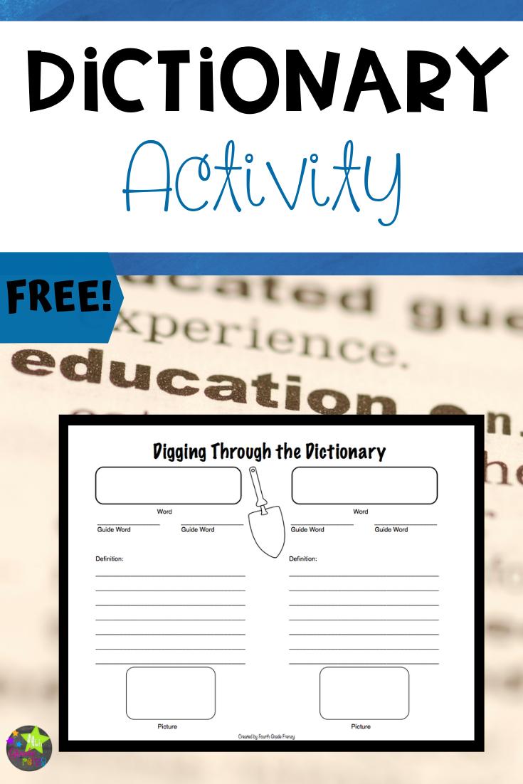 medium resolution of Dictionary Skills Activity   Dictionary skills