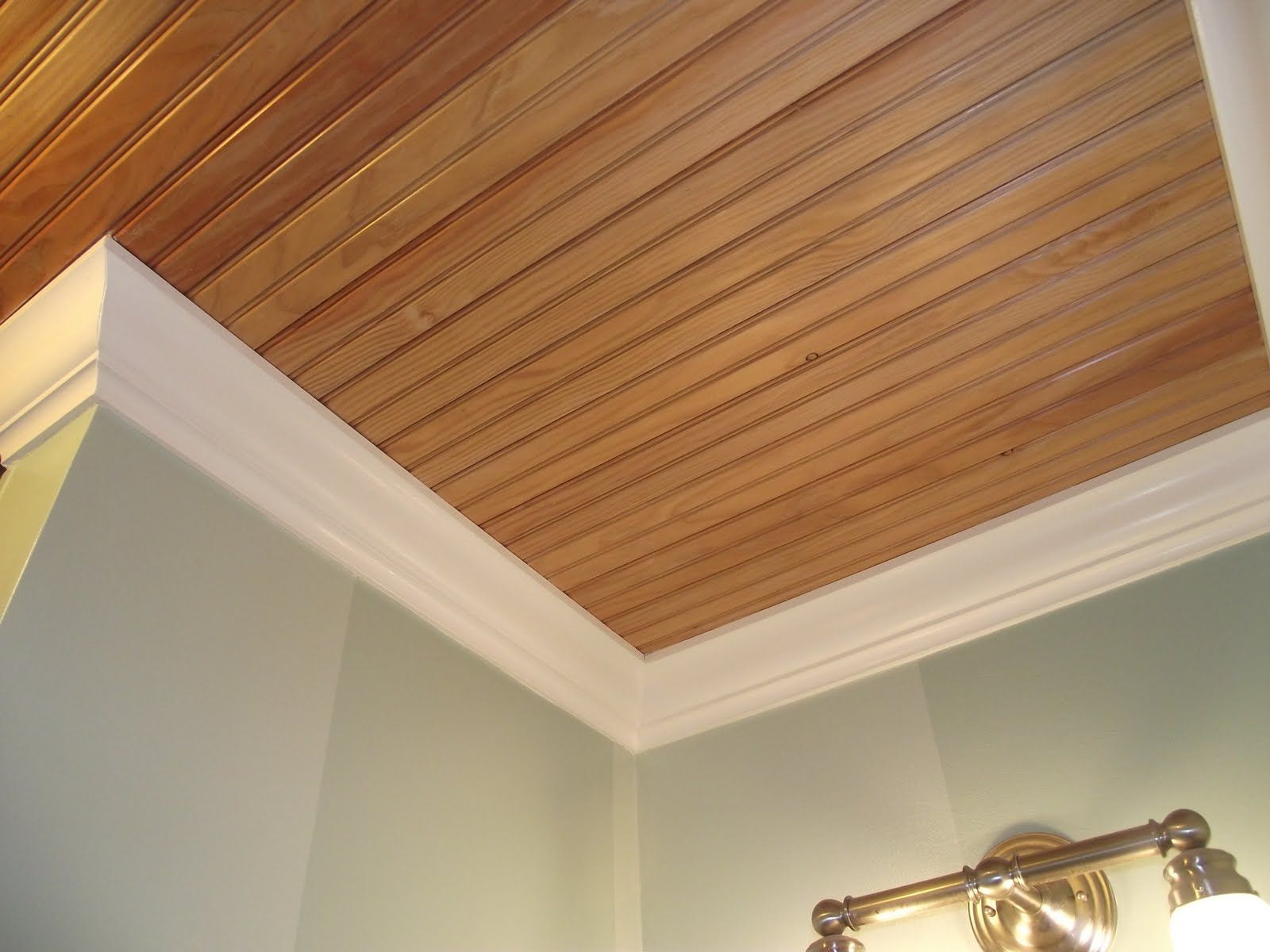 Beadboard ceiling planks in bathrooms ceilings plank for Bathroom ceiling ideas