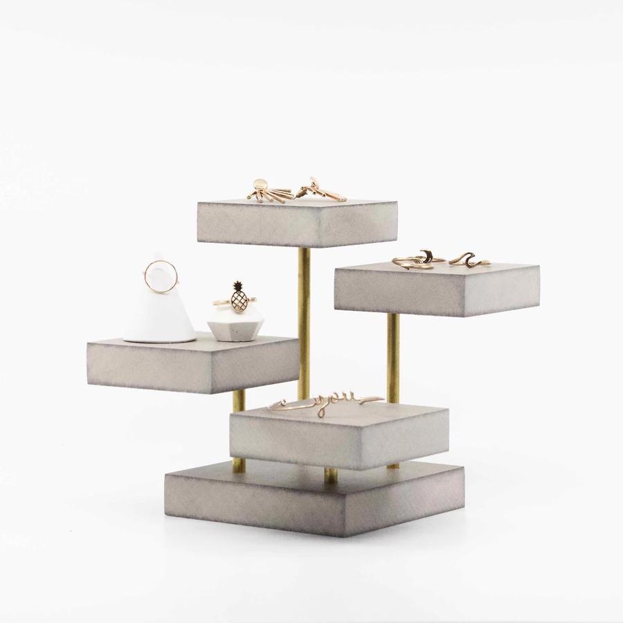 Présentoir à bijoux en bois et métal pour professionnels   Bijoux en bois, Porte-bijoux, Porte ...