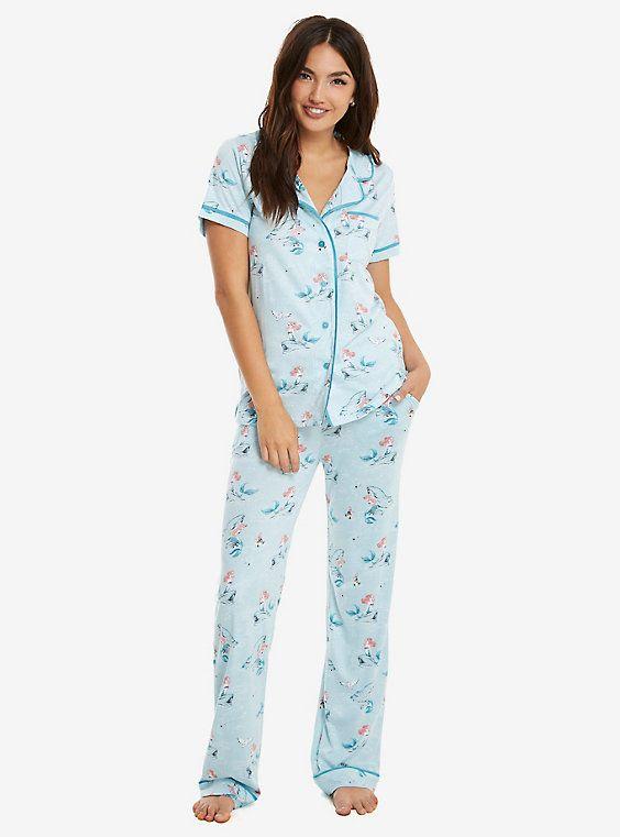 AA1 Munki Munki Bamboo//Cotton Flannel Classic Pyjamas Set Size SMALL