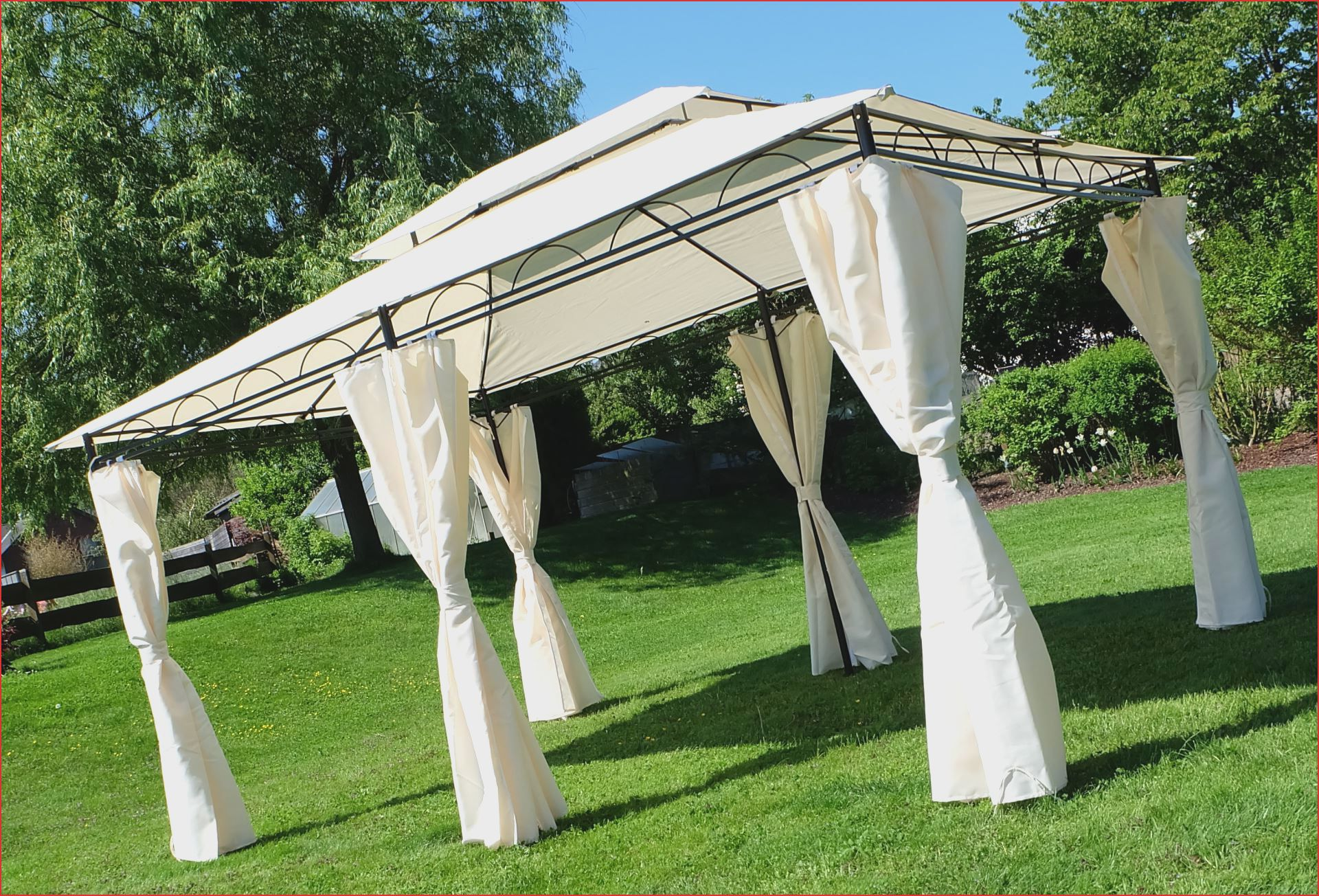 Garten Planen 27 Luxus Pavillon 3x4 Festes Dach O78p