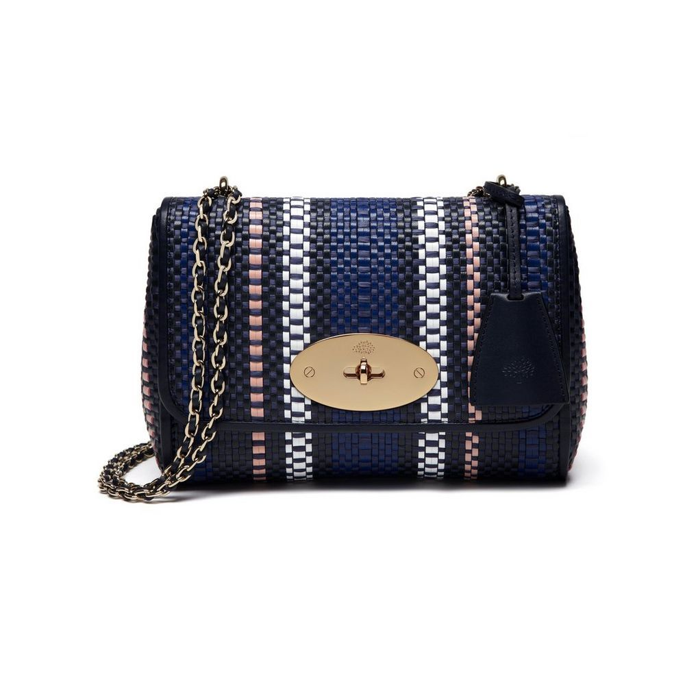 68a7304f90 ... best price lily in midnight blue multi coloured raffia woven leather  women mulberry ebaf1 4b569