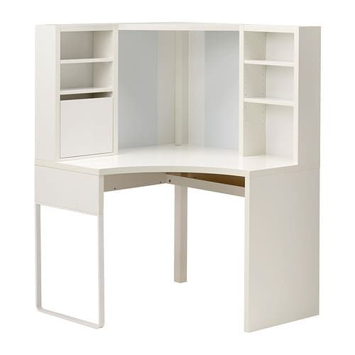 Micke Corner Workstation White 39 3 8x55 7 8 Ikea White Corner Desk Corner Workstation Ikea Micke