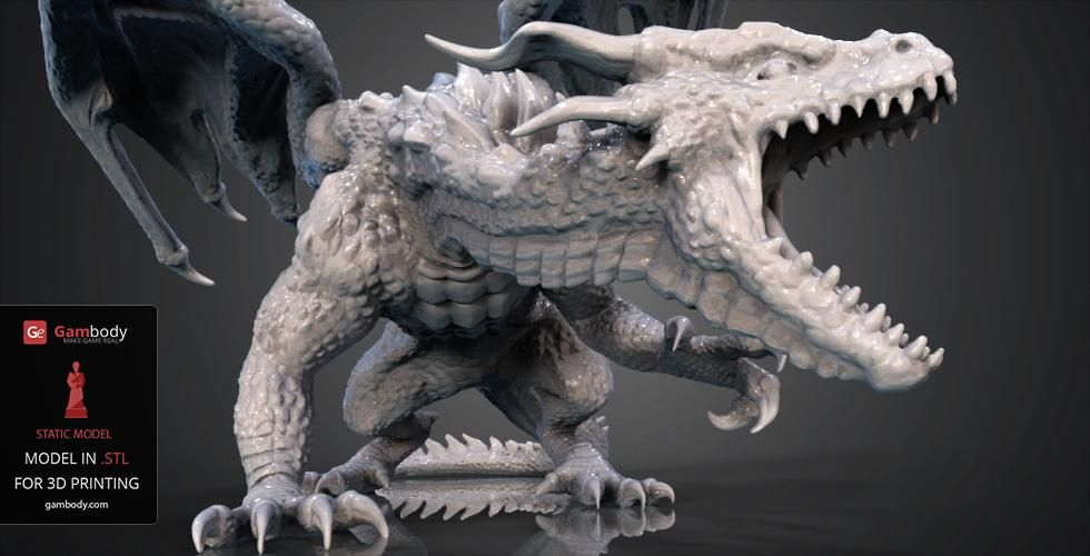 Mountain Dragon 3d Printing Figurine Assembly Prints 3d