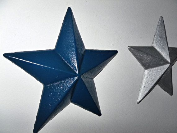 Silver Metal Star Wall Decor  from i.pinimg.com