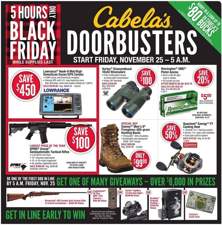 Cabela's 2016 Black Friday Ad Preview
