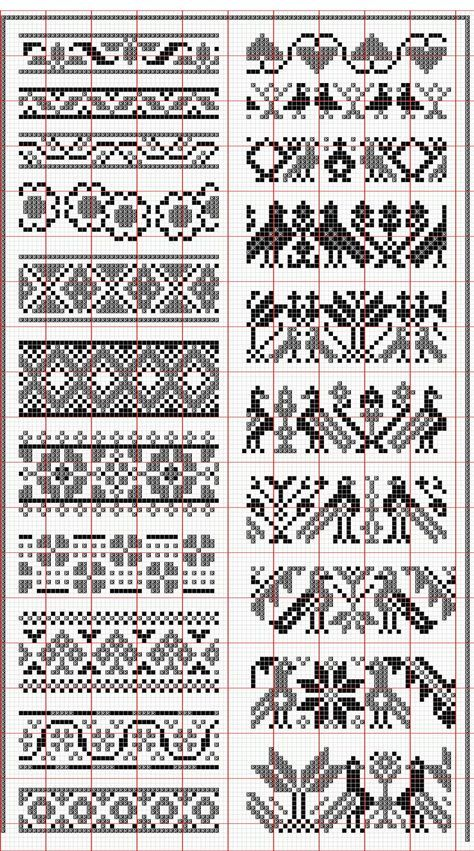 Elegant fair isle knitting patterns no floss numbers, but will be fun to mix and match colors. good chart. fair isle knitting patternsfair ... HUNSCMH - Crochet and Knit #knittingpatterns
