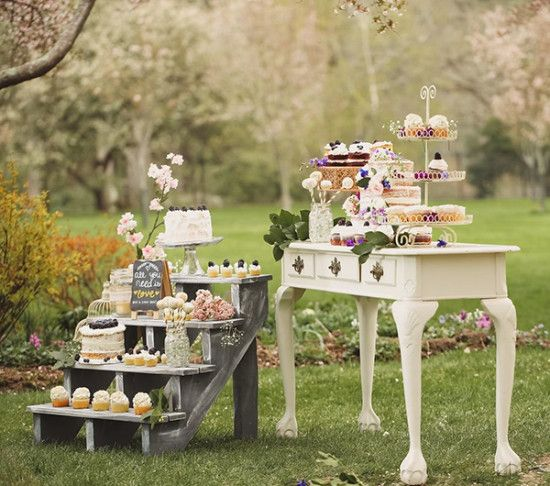 Shabby Chic Wedding Decoration Ideas: How To Set Up A Shabby Chic Dessert Table