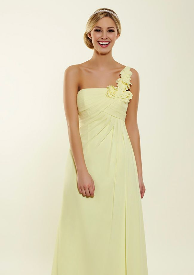 Lemon One Shoulder Bridesmaid Dress From Bridesmaids By A