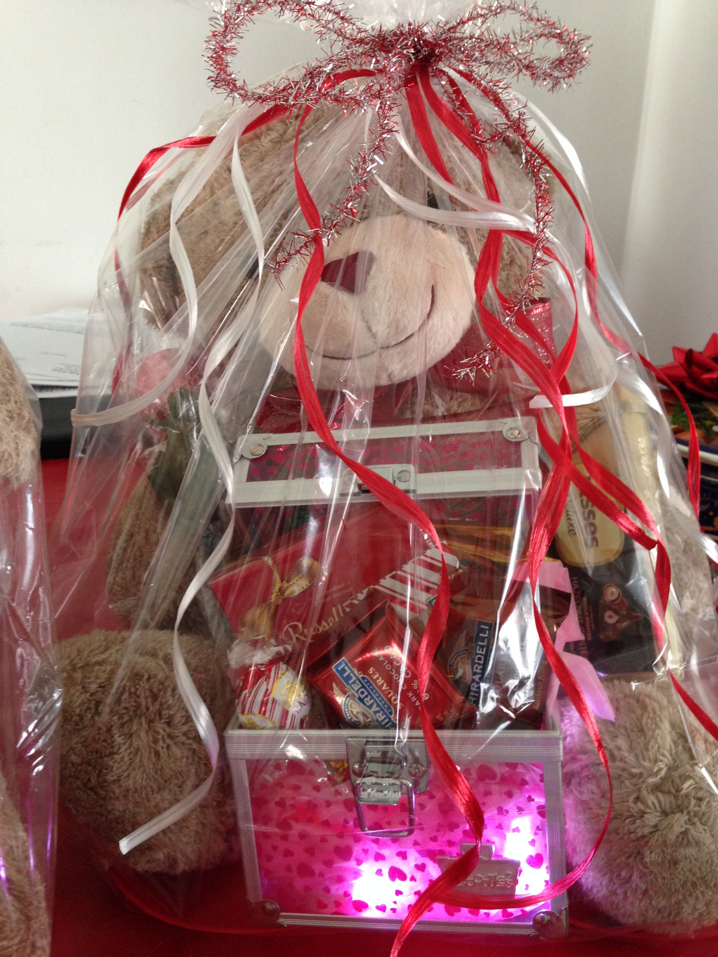 Happy Valentine's Day Teddy Bear Gift Baskets! Pick one or more. Only $40 each