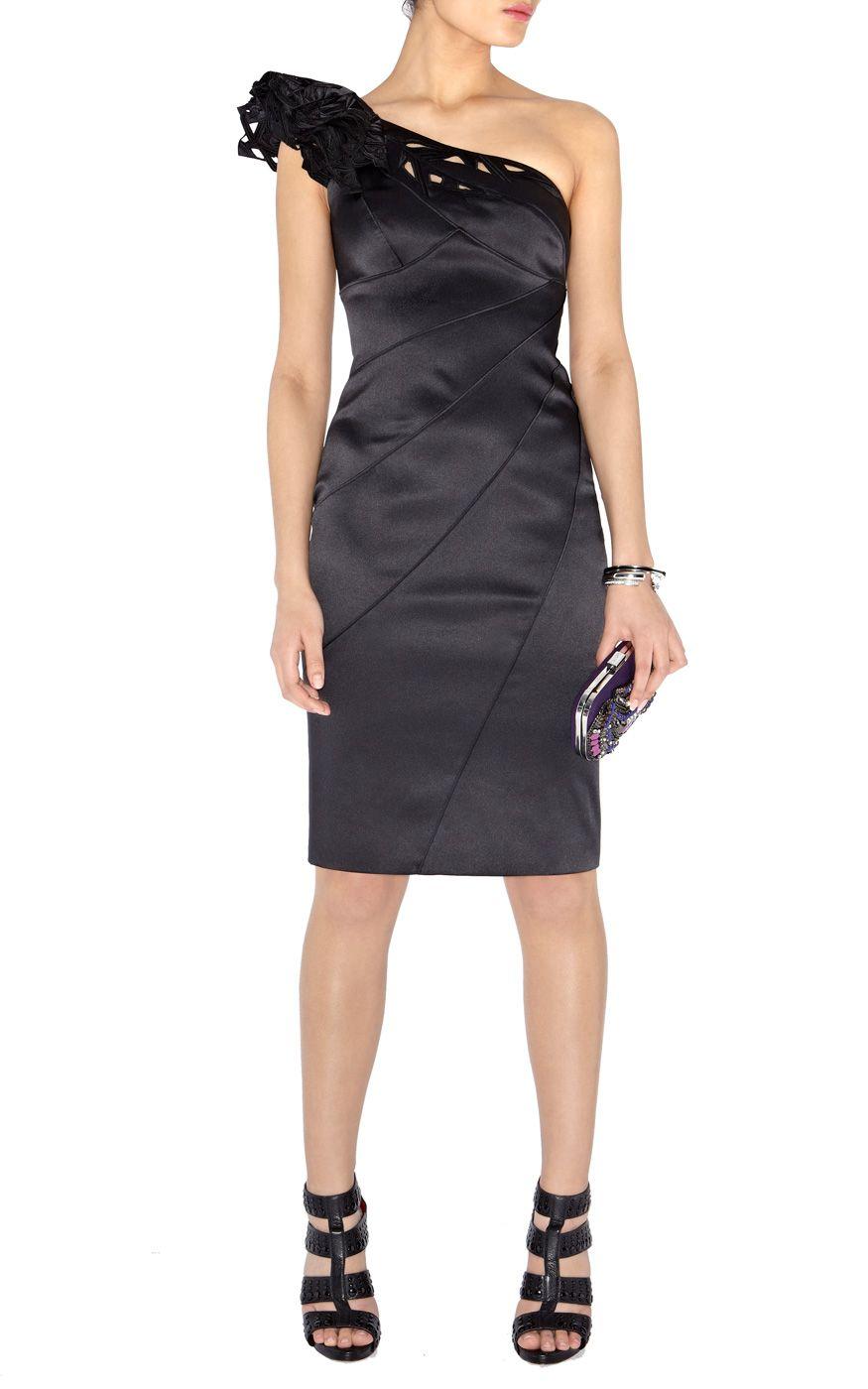 Black dress karen millen - Karen Millen Black One Shoulder Dresses Karen Millen Dl035 Black Cutwork One Shoulder Dress