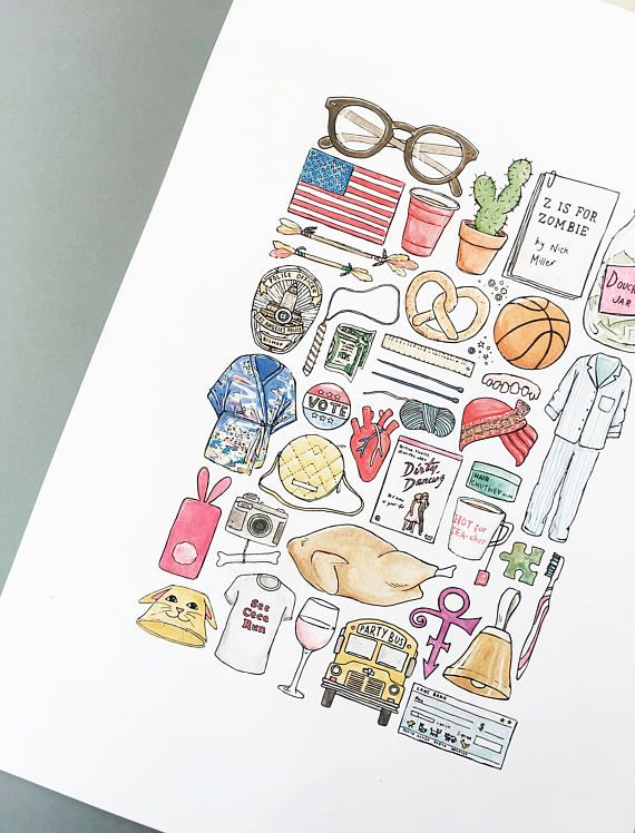 Print of all the best bits and bobs from New Girl