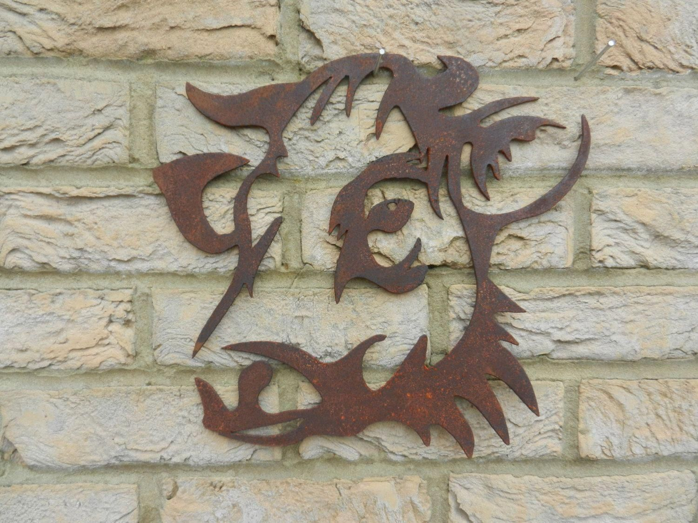 Cow Head Cow Garden Art Rusty Metal Art Garden Decoration Cow Gift Cow Wall Hanging Cow Metal Art Garden W Metal Cow Art Cow Wall Decor Metal Cow