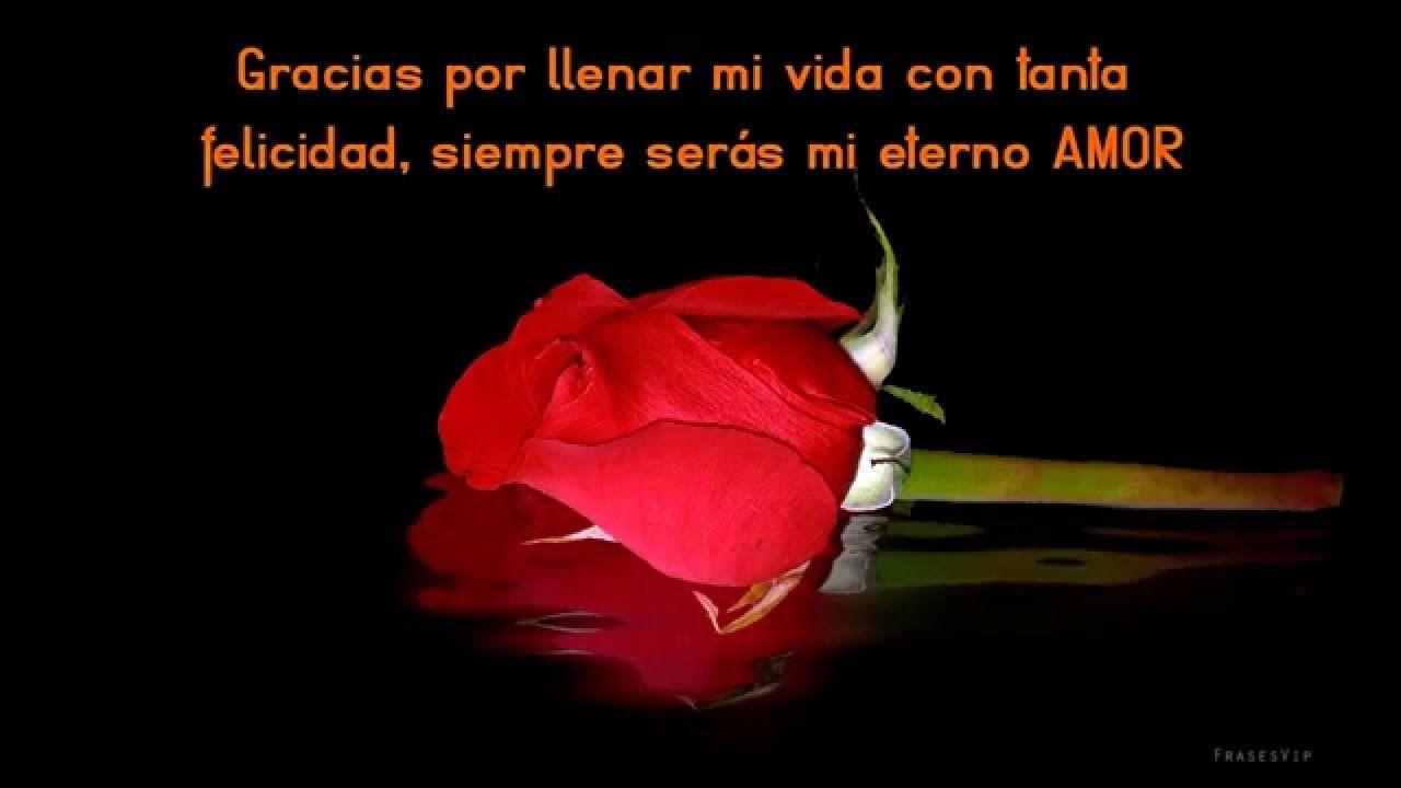 FRASES DE AMOR PARA SAN VALENTIN con imagenes de rosas y flores animadas con movimiento frases románticas para dedicar a tu novia o novio
