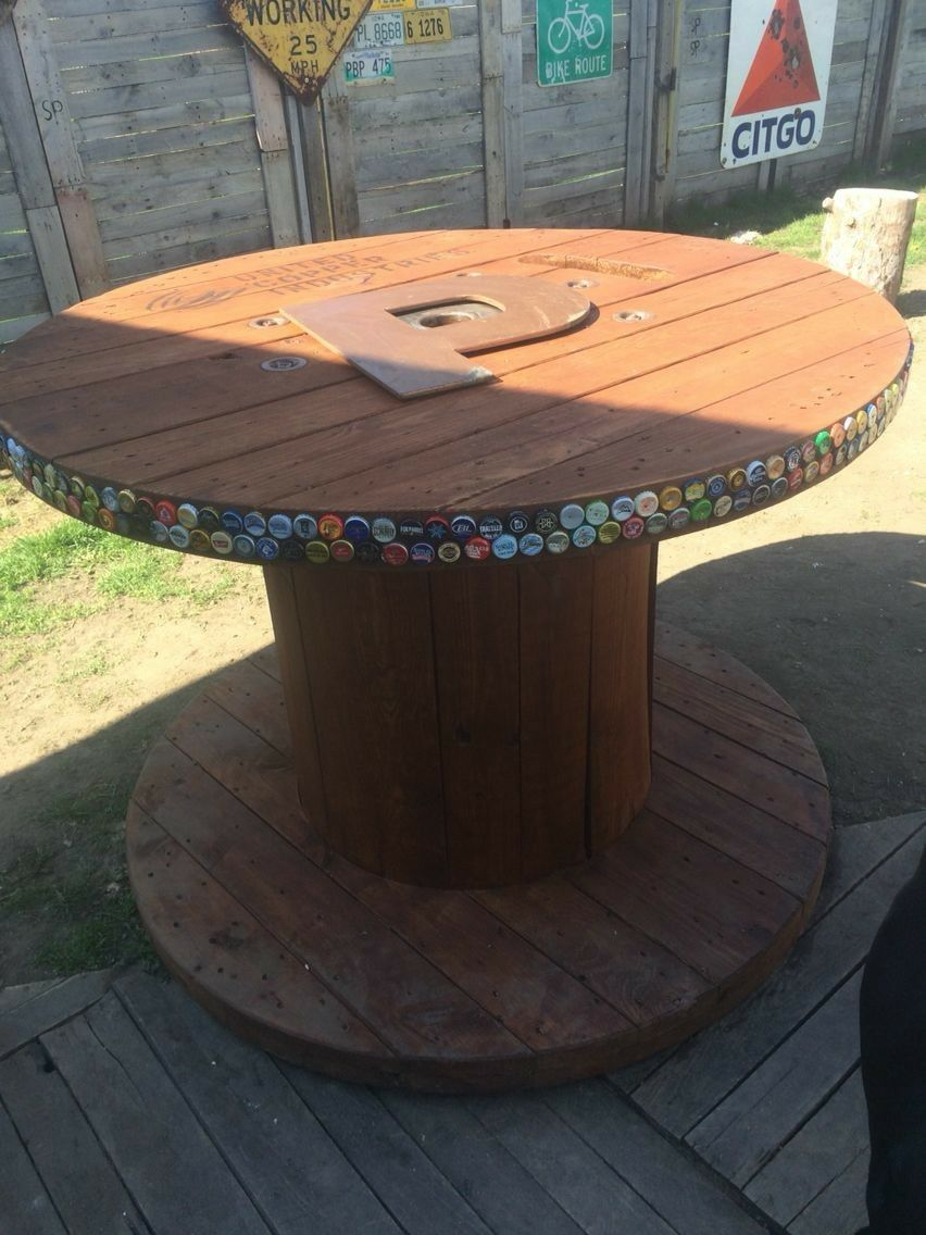 exciting cable spool kitchen table | Pin about Wood spool and Wooden spool tables on Garage ...