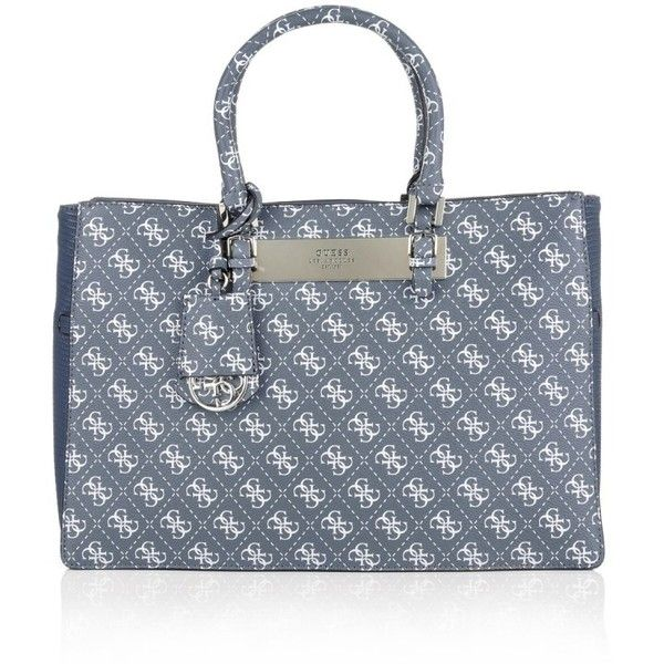 Guess Handle Bags, Isla Carryall Tote Blue Handbag (£115) ❤ liked on Polyvore featuring bags, handbags, tote bags, blue, handbags purses, tote handbags, animal print tote bag, zippered tote bag and guess tote bags