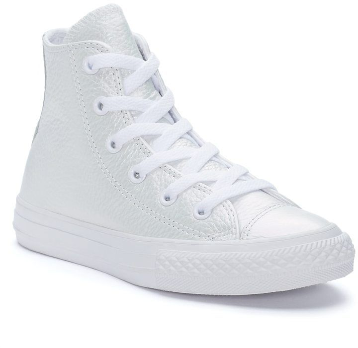 a83ae300f686 Converse Girls  Chuck Taylor All Star Iridescent Leather High Top Sneakers