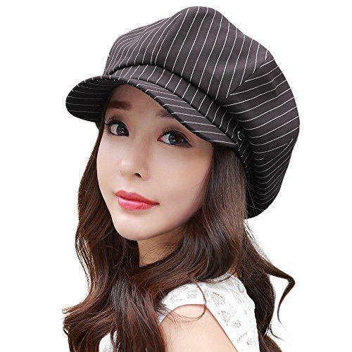Womens French Beret Hat Newsboy Cabbie Beret Cap Cloche Woolen Painter Visor Hats for Autumn Winter Black