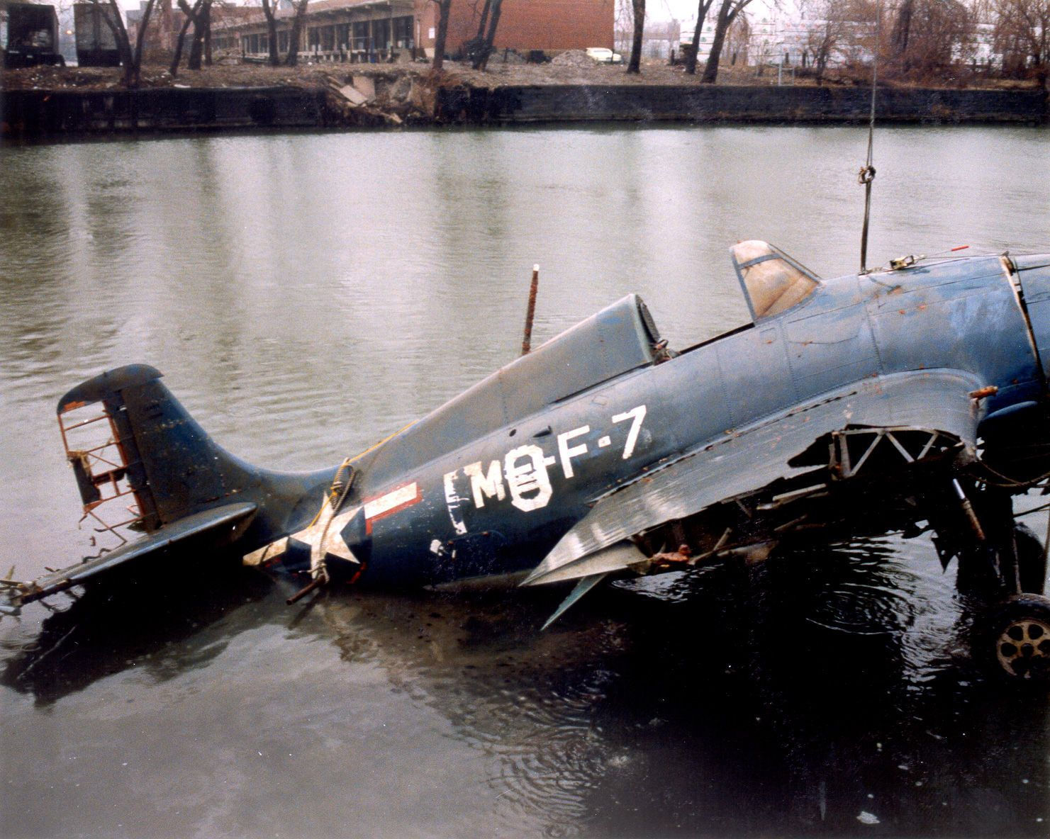 F4F Wildcat recovered after sitting on bottom of Lake Michigan for about 50 years.