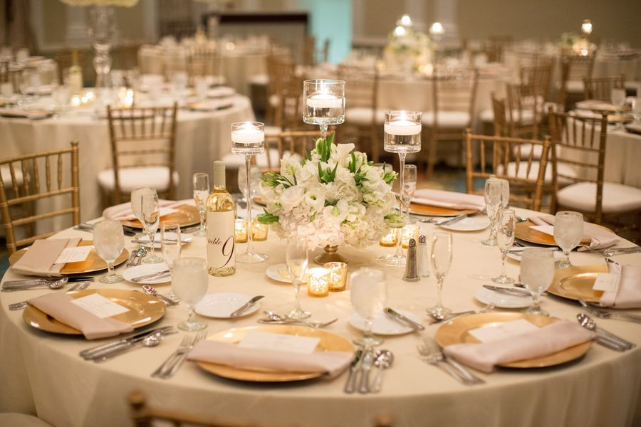 Elegant Florida Resort Wedding From Justin Demutiis Photography Wedding Table Linens Ivory Wedding Decor Reception Table