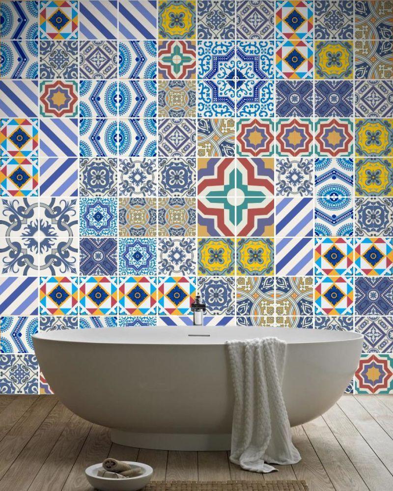 Fliesenaufkleber Für Bad   21 Kreative Ideen Zur Erfrischung   Badezimmer,  Deko U0026 Feiern