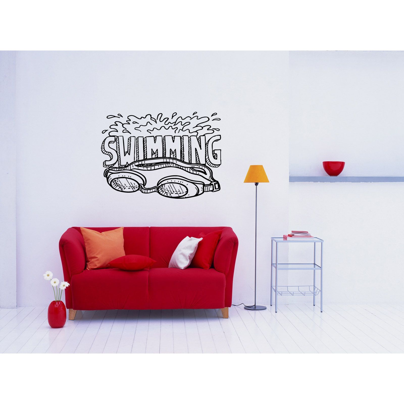 I Am A Swimmer Wall Decal Removable Swimming Wall Art Sticker Lettering Quote