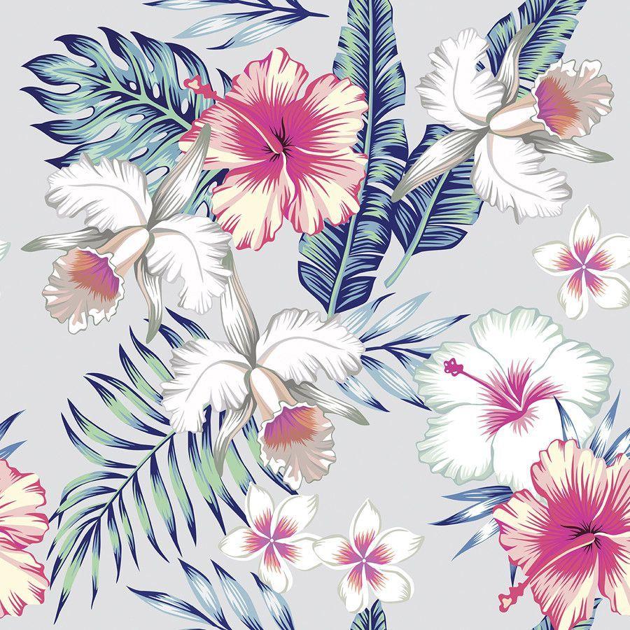 Honolulu Flowers Removable Wallpaper In 2019
