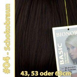 Clip-in Haar Extensions Haarverlängerung mit Echthaar,