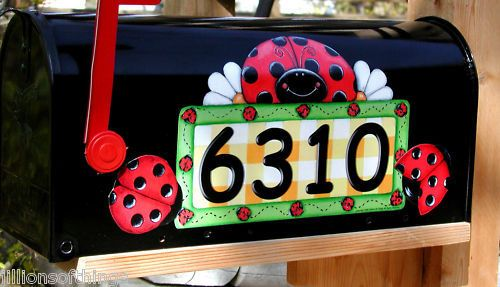 Mailbox Magnet Partial Cover Car Ladybug Personalized