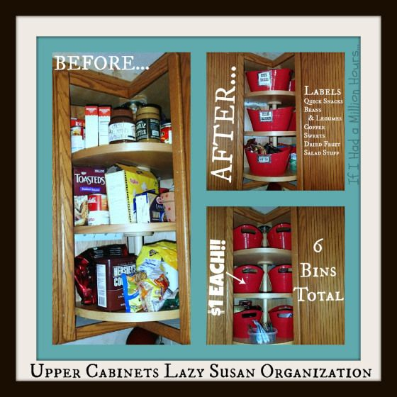 Lazy Susan Kitchen Cabinet Organization Tips Tricks On