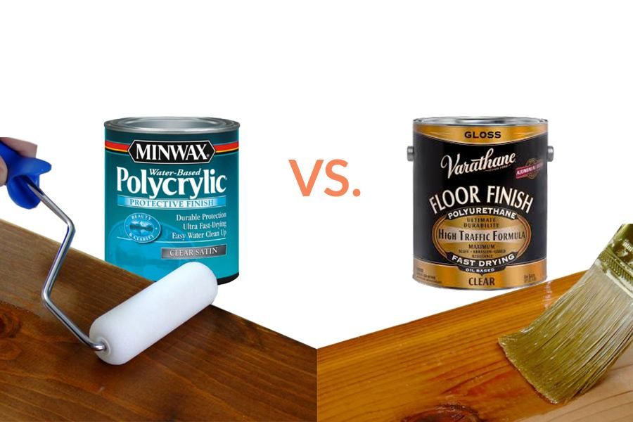 Polycrylic Vs Polyurethane Clear Stain Polyurethane Stained Table