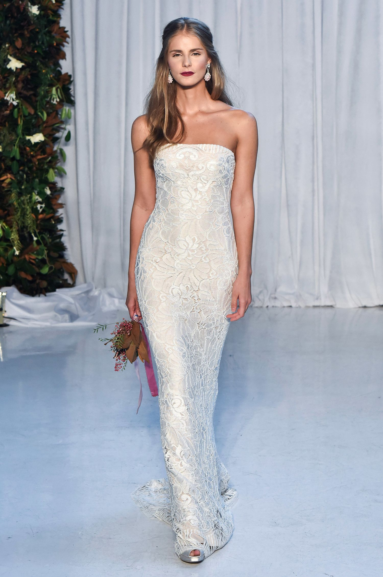 Searching for a wedding dress that merges classic style with timely ...
