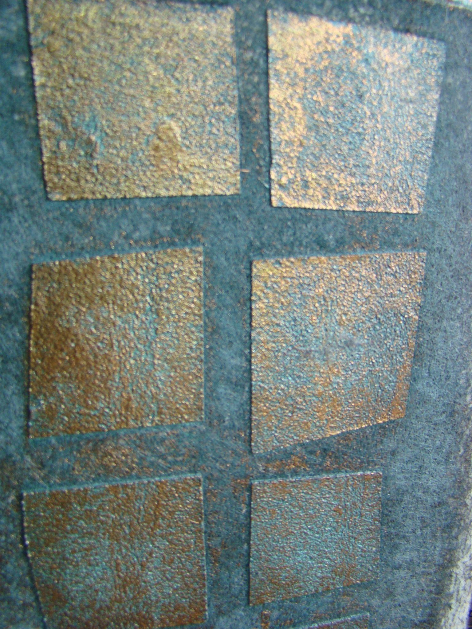 Décoration pour murs contemporain a la CHAUX (mono-couche), Détail Structura métallisé.  Effets design, metallic, bas relief, géométrique, patiné, wall, easy doing, stone, oxidation, french design, lime, stencil