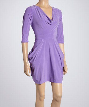Look what I found on #zulily! Lily Drape Cowl Neck Dress by Quiz #zulilyfinds