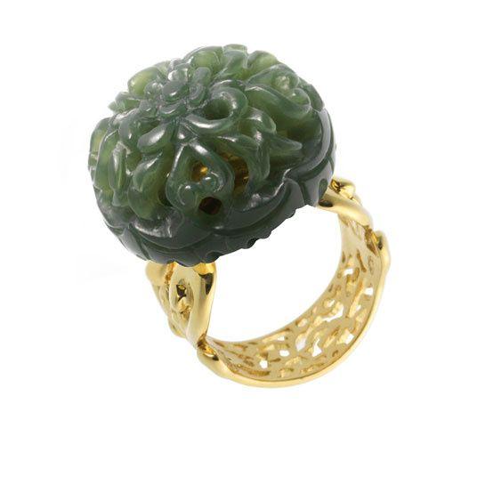 la bague en jade blanc de shaoo pinterest jade ring jade and gold rings. Black Bedroom Furniture Sets. Home Design Ideas