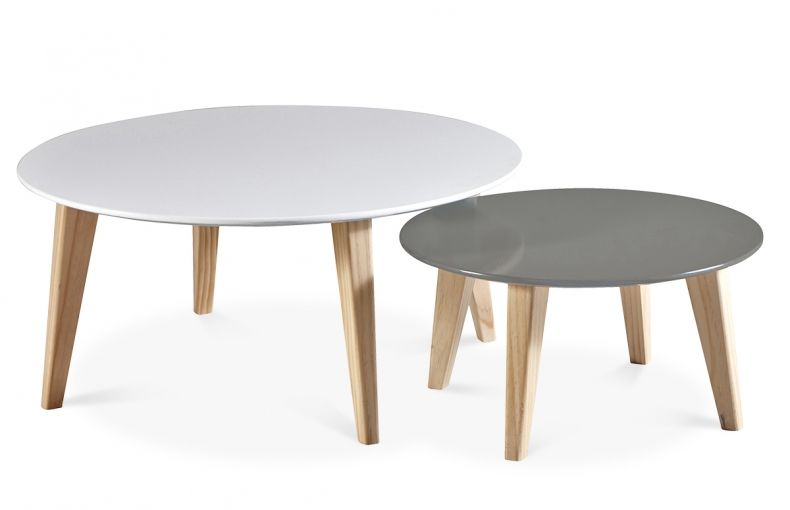 Lot De 2 Tables Basses Scandinave Rondes Salon Cosy Salons And Cosy