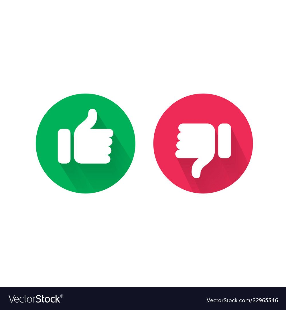 Do And Dont Thumb Up And Down Vector Icons Vector Red Bad And Green Good Like And Unlike Symbols For Negative And Positive Ch Thumbs Up Icon Vector Free Icon
